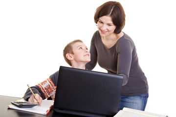 E-Learning mit Laptop in der Schule