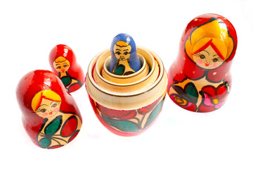 matreshka - the traditional russian souvenir, wooden doll