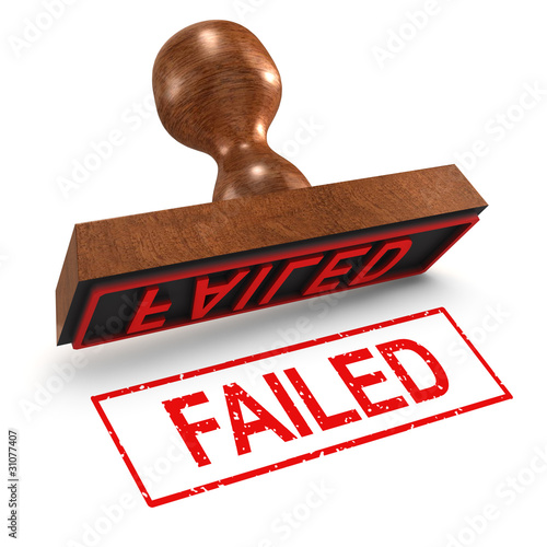 "3d Rubber Stamp - ""Failed"""