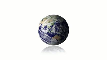 Globe fond blanc