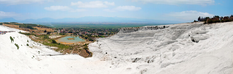 Panoramic view of Pamukkale, Turkey