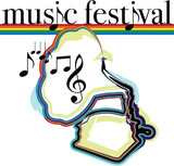 Music festival illustration poster