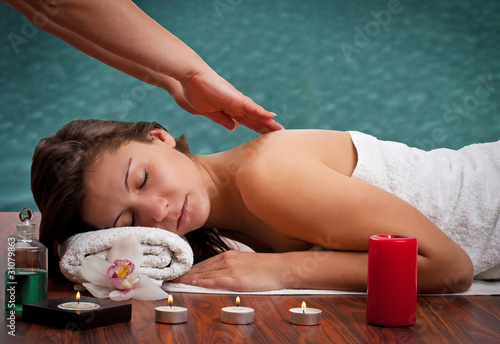 woman in spa environment