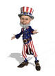 Uncle Sam Welcomes You - 3d render