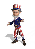 Uncle Sam Welcomes You - 3d render poster