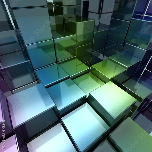 Colorful concept cube