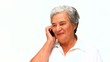 Senior woman phoning