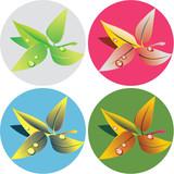 green-tea-leaves-popart poster