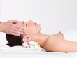 Massage of  the face in beauty salon