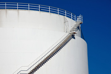 Big white industrial tank