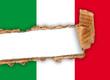 bandiera italiana strappata