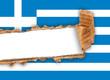 bandiera greca strappata