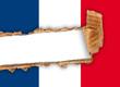 bandiera francese strappata