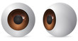 brown eye ball