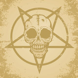 Skull and pictograph poster