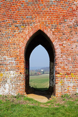Looking through the Arch of an English Folly