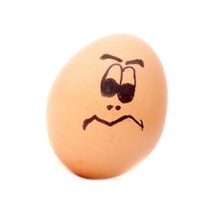 Egg head, angry