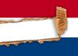 bandiera olandese strappata