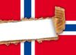bandiera norvegese strappata