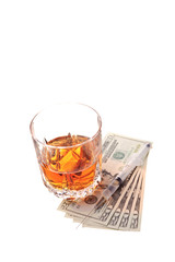 drugs alcohol and money