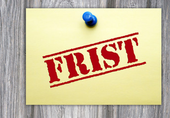 Frist - Termin und Business Konzept