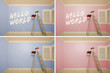 Maternity Series of Pink And Blue Empty Rooms - XXXL