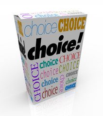 Choice - A Product Box Gives You an Alternative to Choose