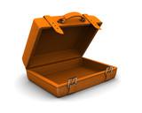 orange travel case poster