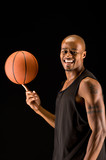 Basketball player happy