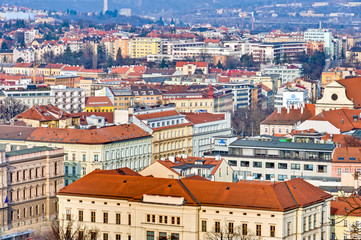Red roofs of Brno.