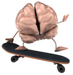 Cerveau et skateboard
