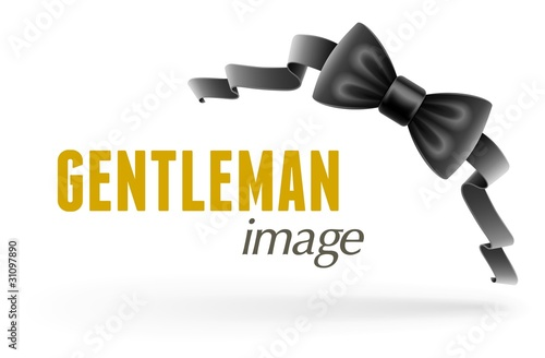 black bow tie vector