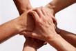 Hände symbolisieren Gemeinsamkeit