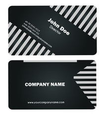 Simple Business Card - black and white