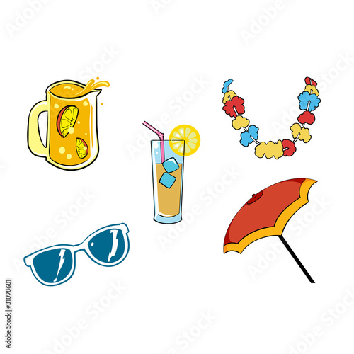 Vacation vectors set