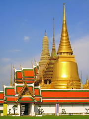 golden pagoda in bankok thailand