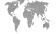 Weltkarte mit schatten