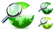 green global search glossy vector icon