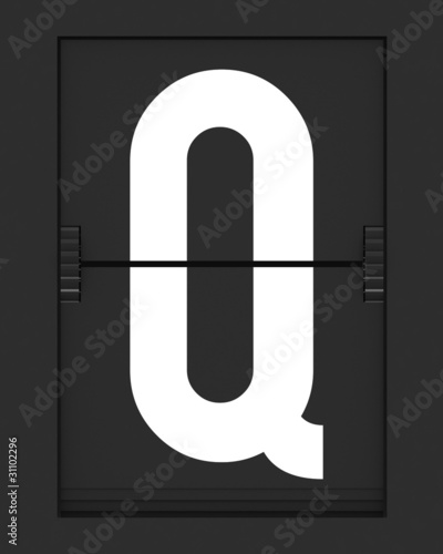 Q Letter from mechanical timetable board
