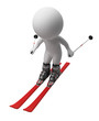 3d small people - skis