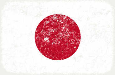 grunge styled flag of japan