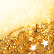 Gold  abstract holiday lights background