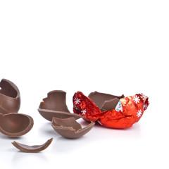cracked chocolate egg