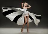 Fototapety Beautiful blonde in marvelous dress