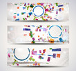 Set of abstract header-banner.