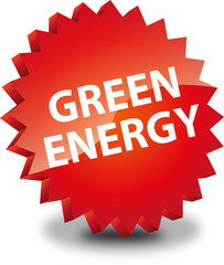 Button Rund Green energy rot