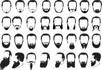 large set of men beards