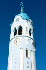 detail of Church of Saint Elizabeth Hungarian called Blue Church