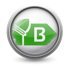 Symbole vectoriel diagnostic performance énergétique (DPE)  B