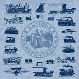 Fototapety antique transportation set (vector)